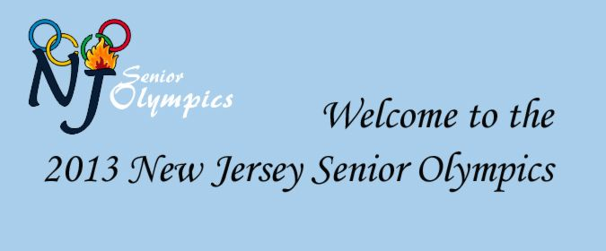 Welcome to the 2013 New Jersey Senior Olympics